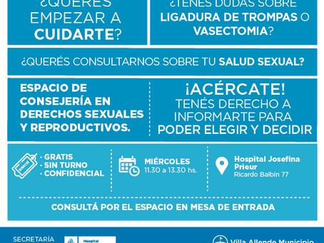 Espacio de consejería en derechos sexuales y reproductivos