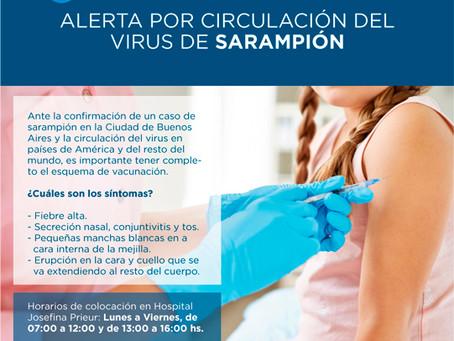 Alerta: Sarampión