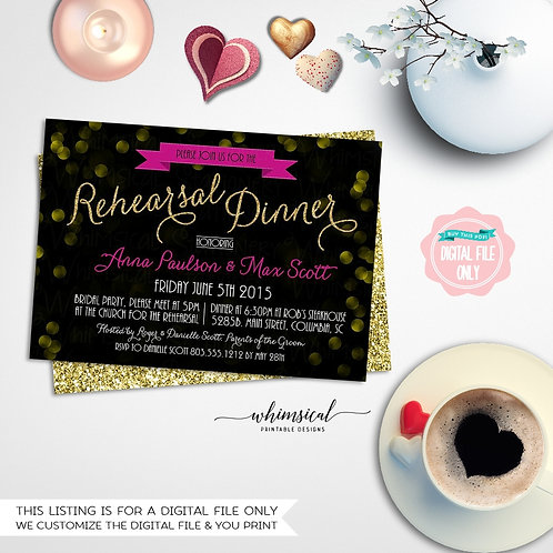picture regarding Printable Rehearsal Dinner Invitations identified as \