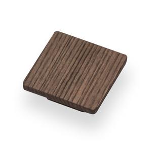 Square knob wood