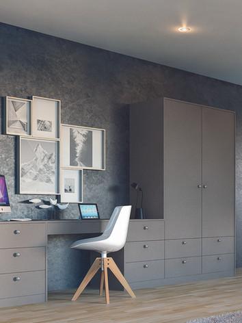 Zurfiz UM Metallic Basalt Home Office.jp