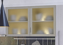 Aluminium Frame Glazed Door with Obscure