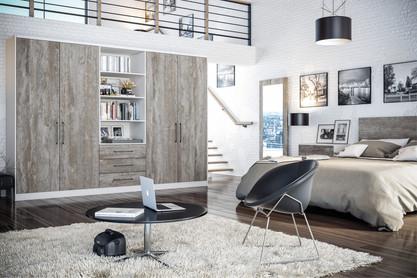 Valore Driftwood Light Grey Bedroom