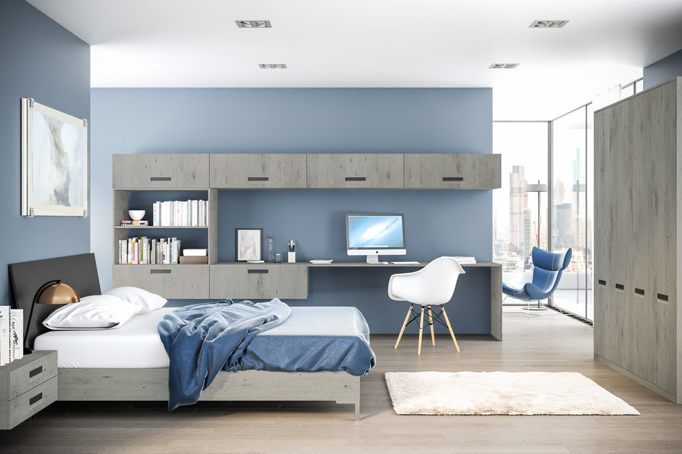 London Concrete Lazio Bedroom