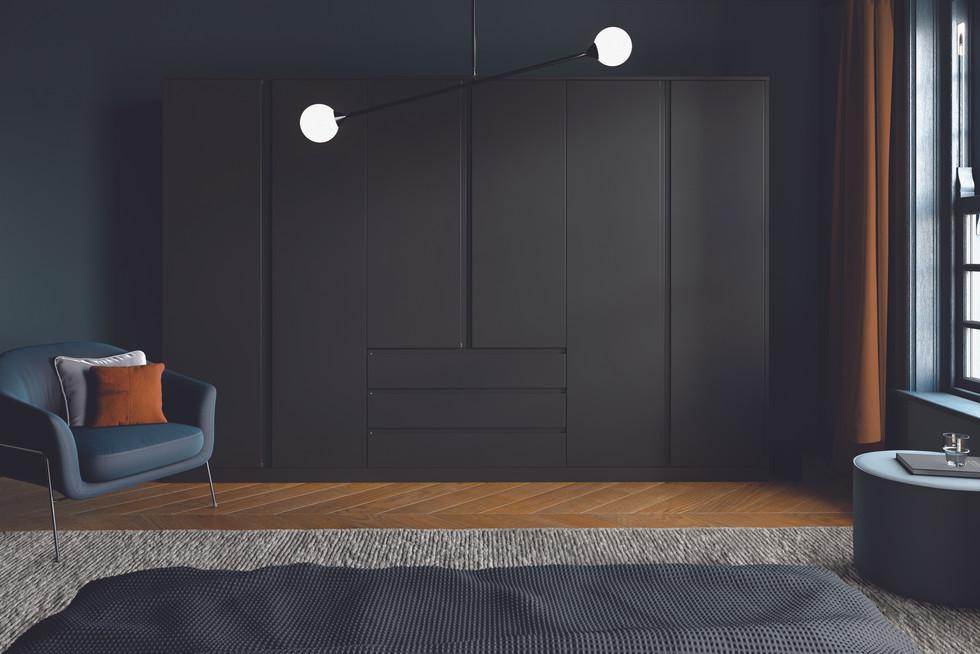 Bella Knebworth Matt Black Bedroom