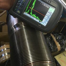 Test aux Ultra-Sons avant réparation