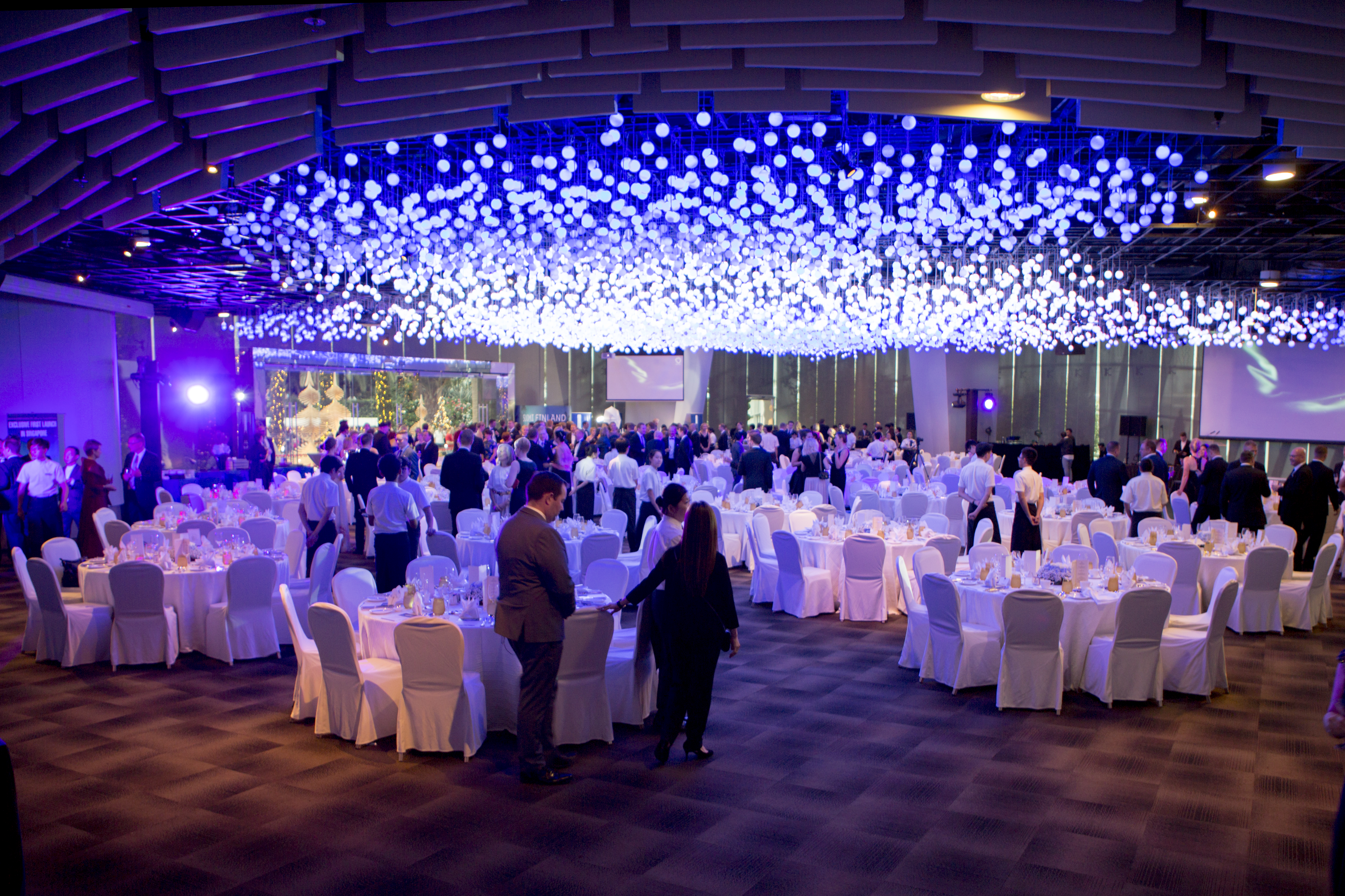 Blue And White Were The Colours Of The Evening, When Close To 350 Guests  From The Finnish Community In Singapore Gathered At The Flower Dome At  Gardens By ...