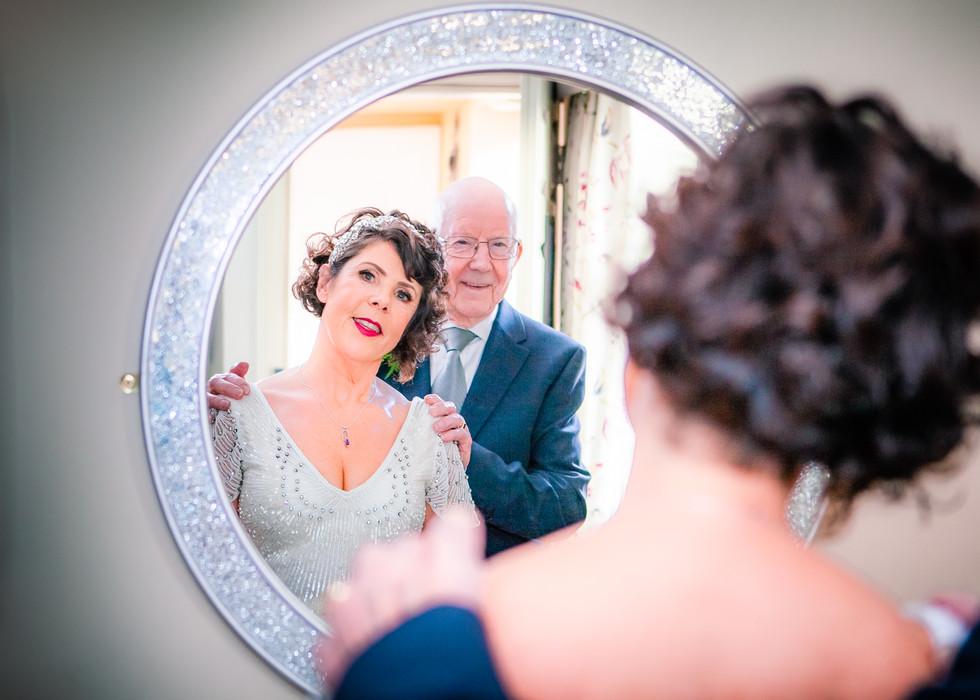 Wedding bride & father