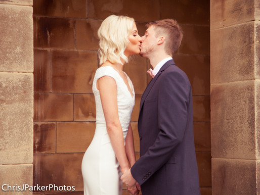 Wedding Couple at Crathorne Hall Hotel