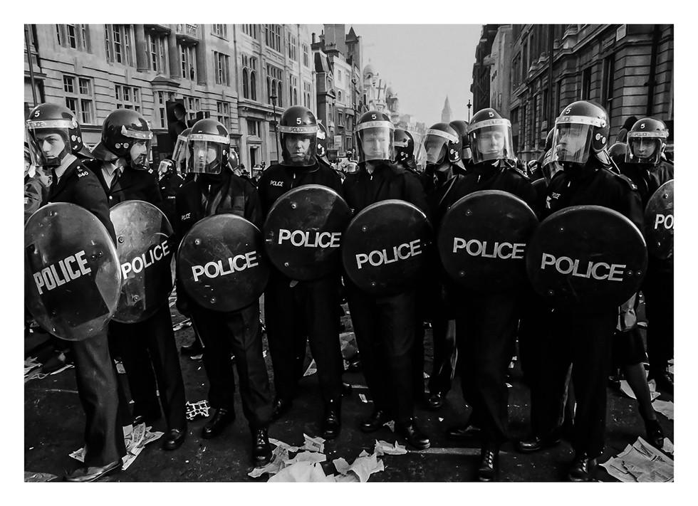 London Riot Police 1980's