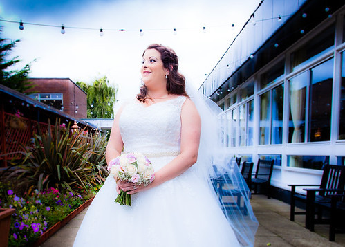 Wedding bride at The Sporting Lodge Hotel