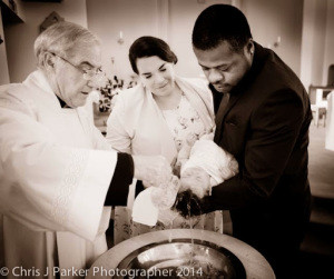 Christening Photography at St. Cuthberts church in Stockton on Tees