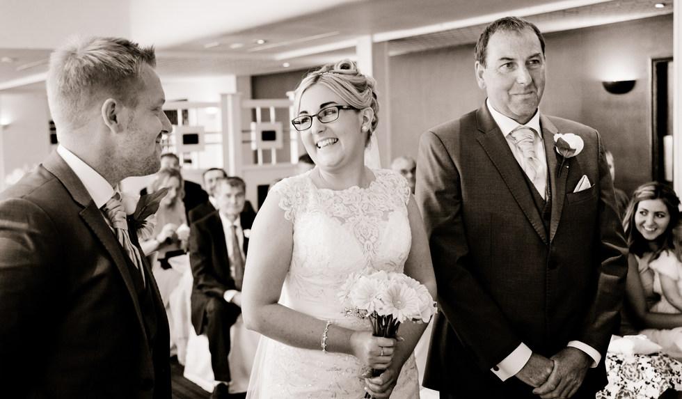 Indoors wedding ceremony