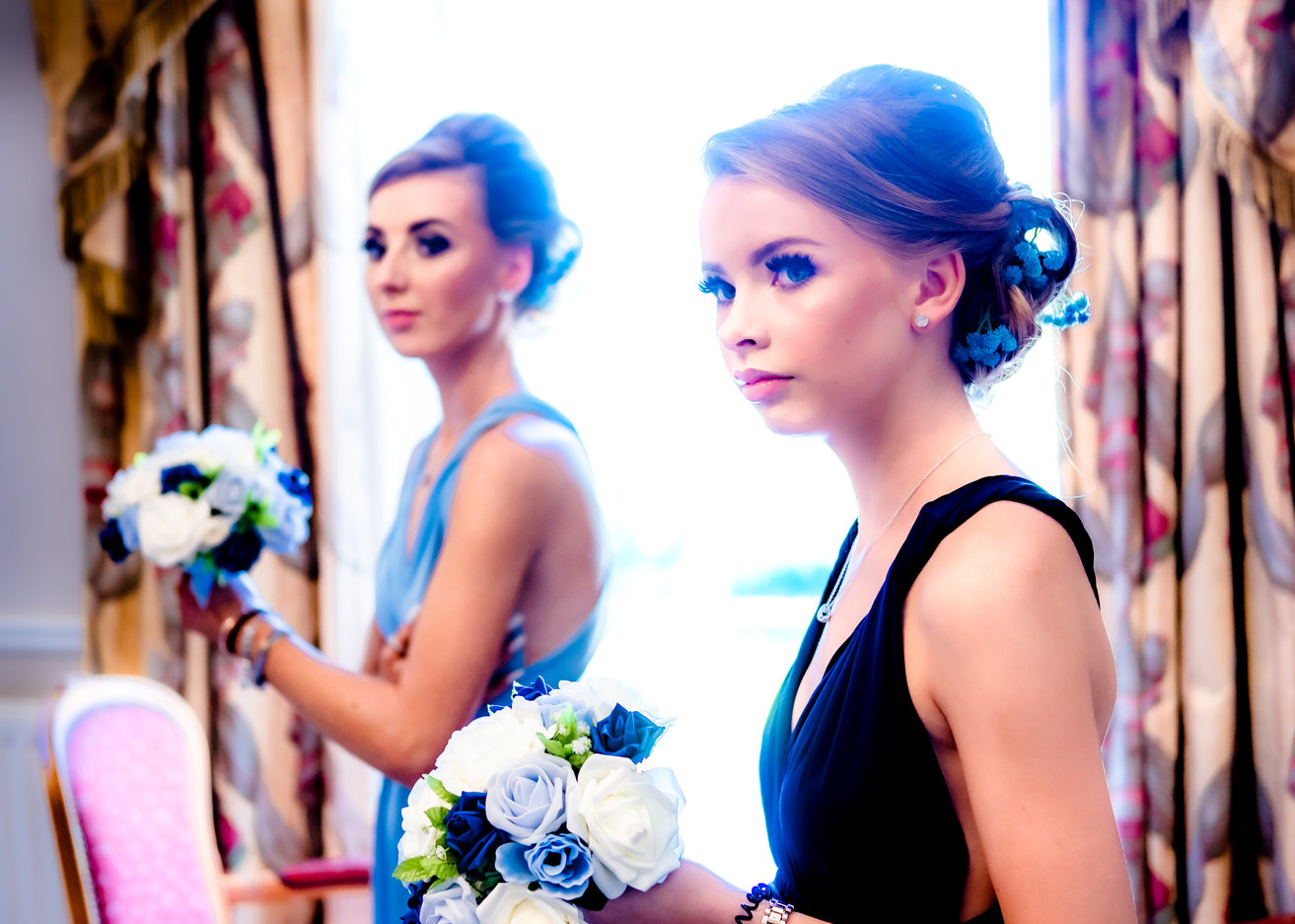 Bridemaids photographed at getting ready