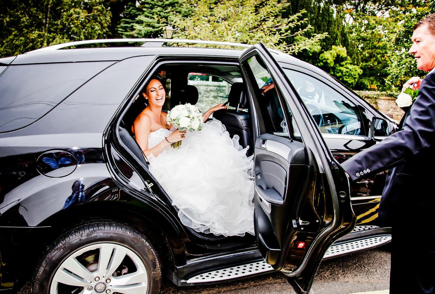 Wedding bride arriving