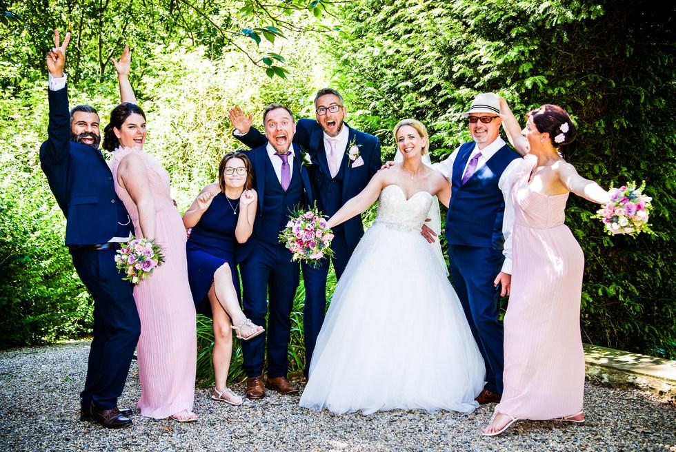 Wedding group photo of celebrations