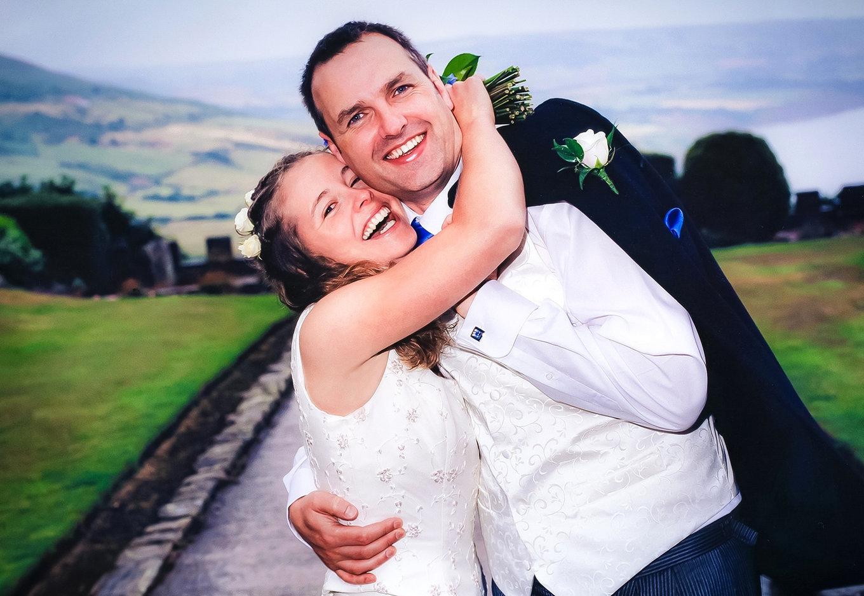 Bride and Groom at Ravenscar