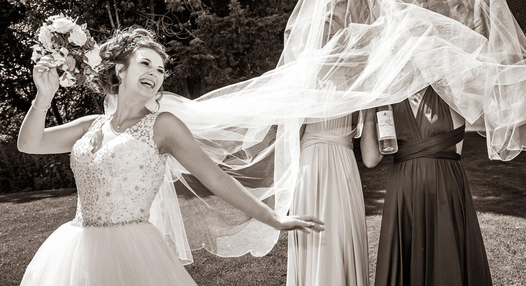 Bride haveing fun