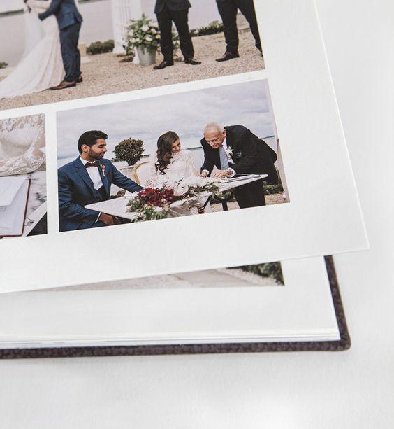 Queensberry Flush Mount wedding Album