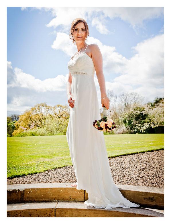 Bride poses for photos
