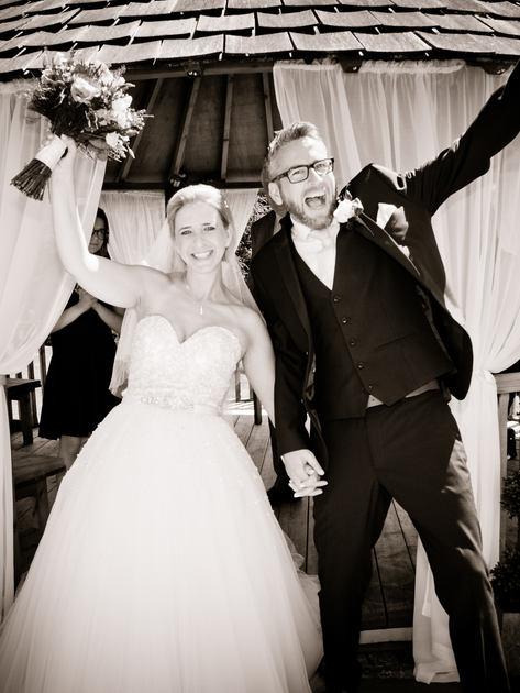 Bride & Groom celebrate