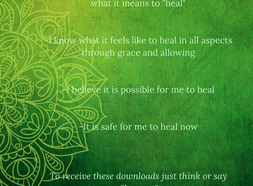 Affirmations/Downloads || Opening To Receiving Healing ❤️