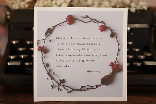 Magic Blooms | 5 x 5 Poetry Print