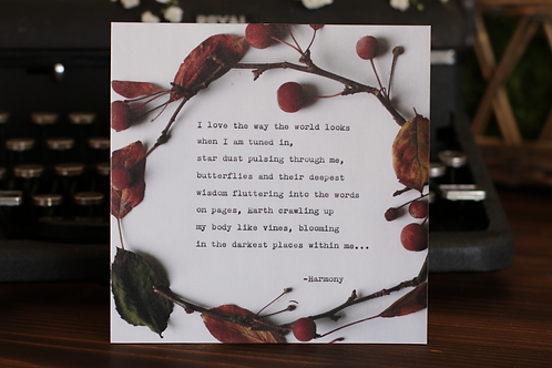 Love the Way | 5 x 5 Poetry Print