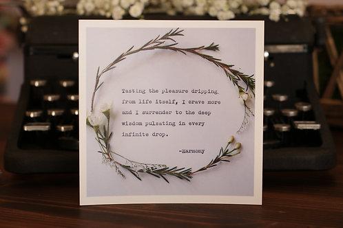 Wisdom Pulsating | 5 x 5 Poetry Print
