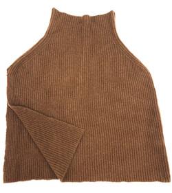 ツイードミルのニット編みのポンチョを輸入してショップに販売