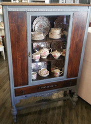 Grey and Exposed Wood Hutch