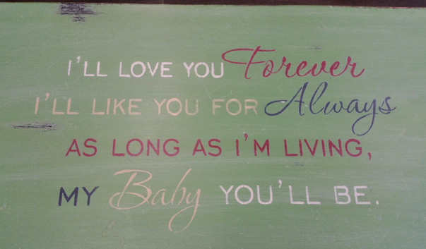 'I'll Love You Forever' Bench