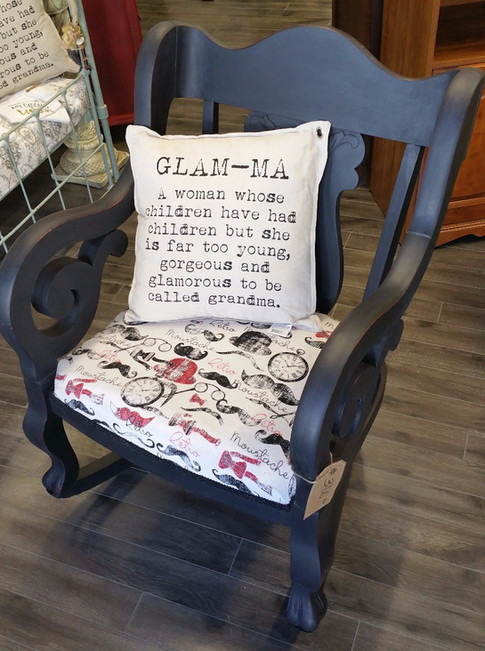 Retro Moustache Rocking Chair