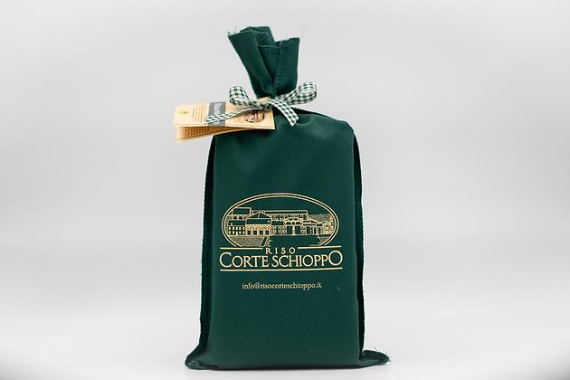 Riso Vialone Nano Classico confezionato in sacchetto di tela - 1 kg