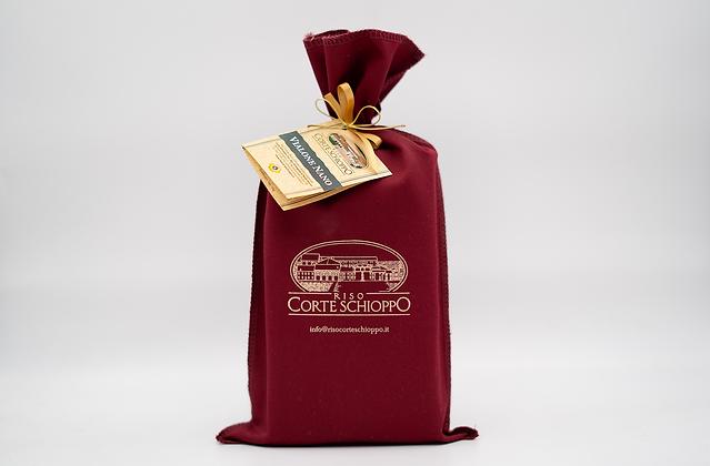 Riso Vialone Nano Classico Semilavorato confezionato in sacchetto di tela - 1 kg