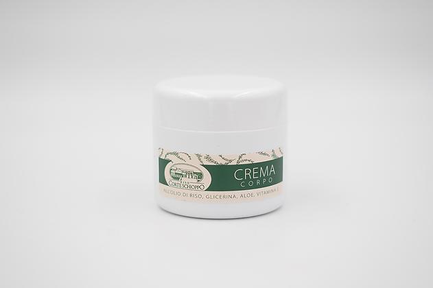 Crema per il corpo all'olio di riso, glicerina, aloe e vitamina E - 150 ml