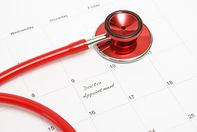 A scheduled doctors appointment is wrote
