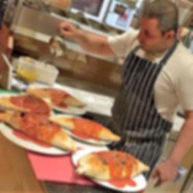 Chef Making Calzone's
