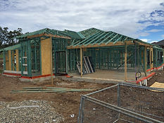 House frame concrete slab roof trusses