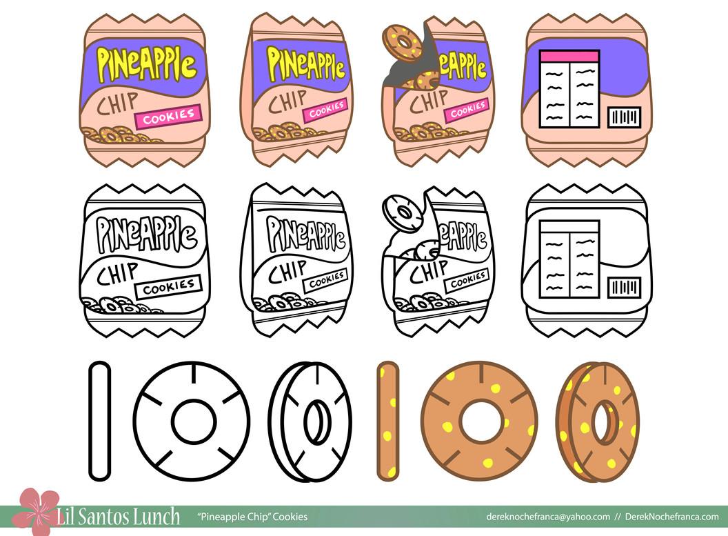 Pineapple Chip cookies