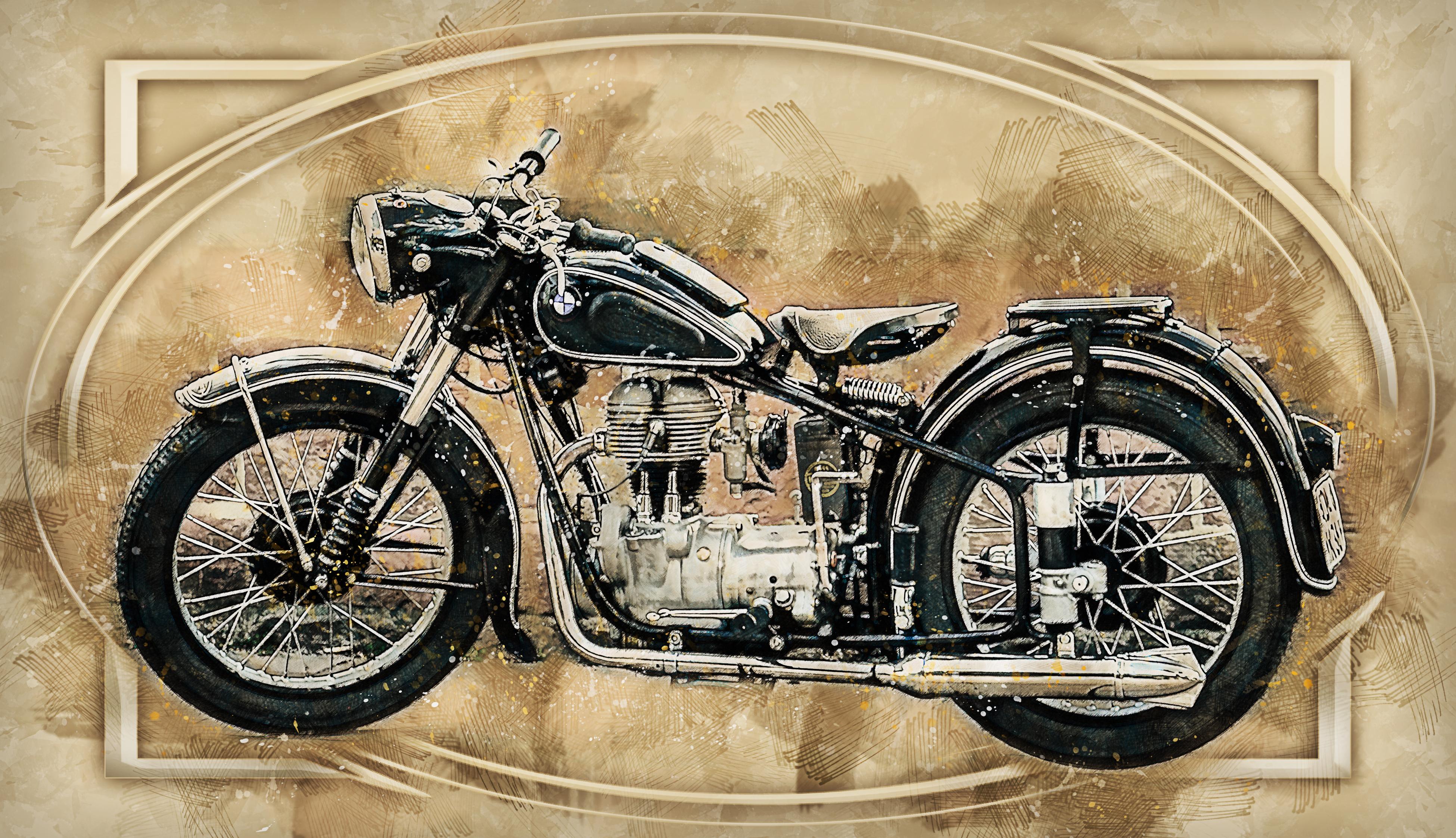 Classic Motorcycle - Retro