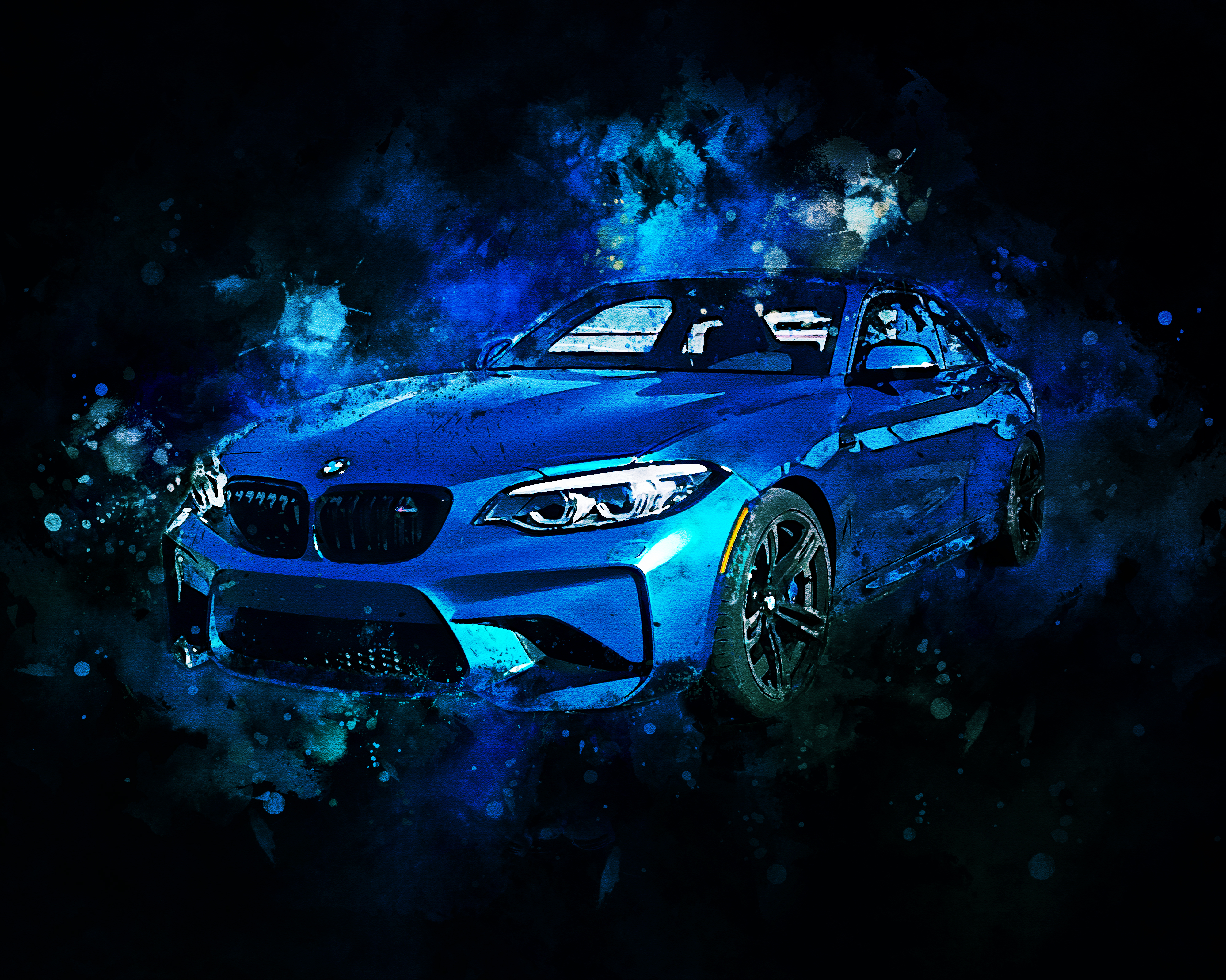 BMW M2-WatercolorSplatter
