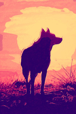 DogSunset-DigiPaint