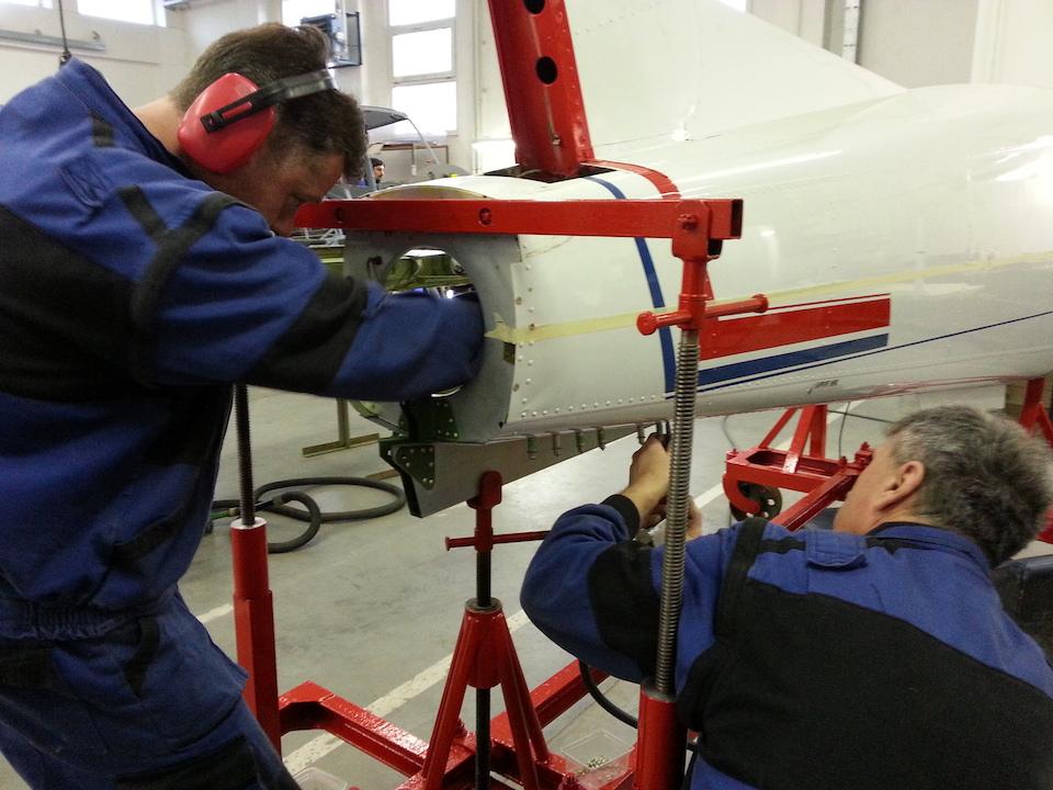Zlin 143 repair