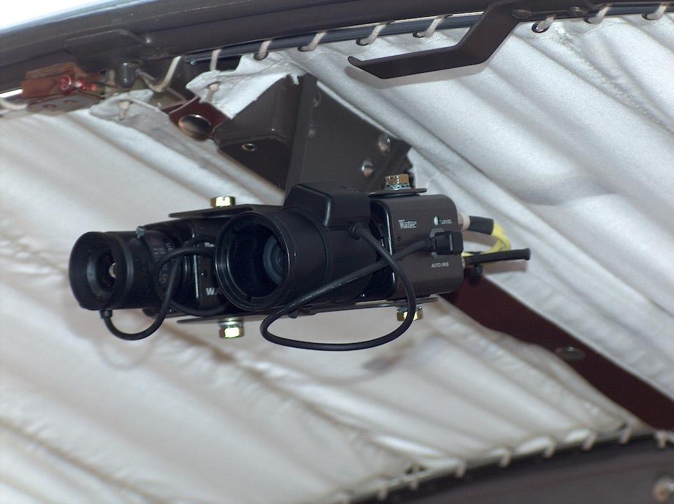 Zlin 242 camera installation