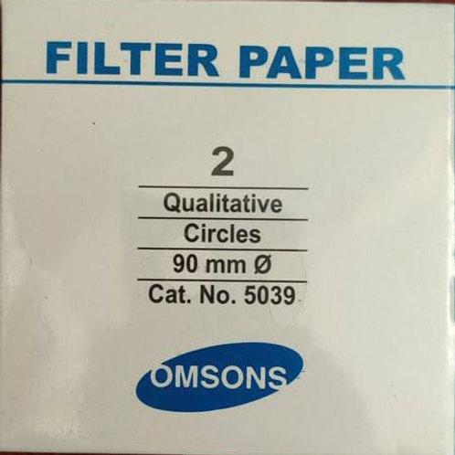 Omson Filter Paper N0. 2