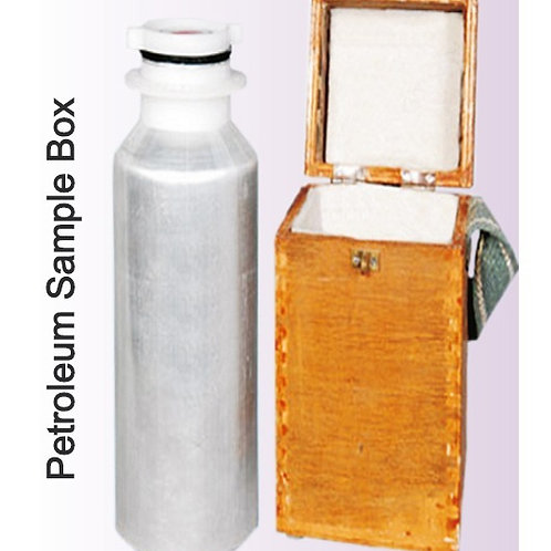 Petroleum Sample Box With Wooden Box and Sample Bottle