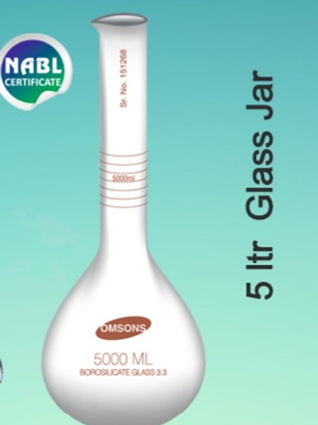 Petrol Pump use 5 ltr Glass Jar