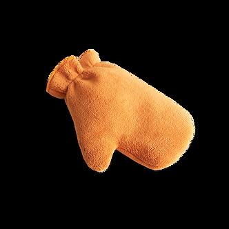 Микрофибровая рукавица для химчистки и уборки авто оранжевая