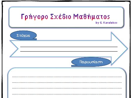 Ένα σχέδιο μαθήματος στο 3 και γρήγορα!